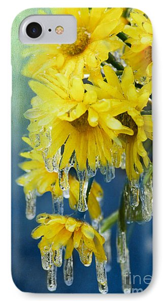 Daisies In Ice Phone Case by Betty LaRue