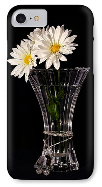 Daisies In Vase IPhone Case by Tracie Kaska