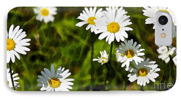IPhone Case featuring the photograph Daisies In Watercolor by Susan Crossman Buscho