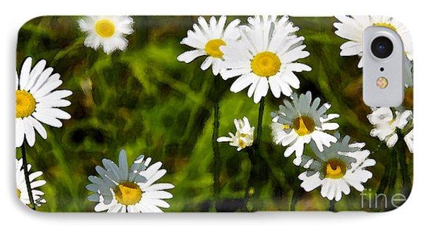 Daisies In Watercolor IPhone Case by Susan Crossman Buscho