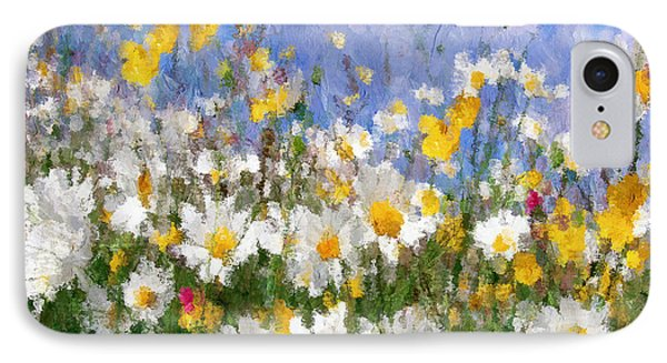 Daisies On A Hill - Impressionism IPhone Case by Georgiana Romanovna