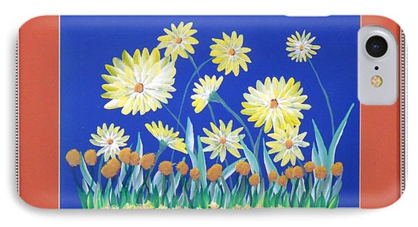 IPhone Case featuring the painting Daisies by Ron Davidson