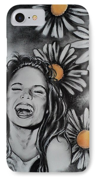 IPhone Case featuring the drawing Daisy by Carla Carson