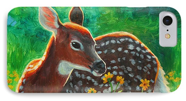 Daisy Deer IPhone Case by Crista Forest