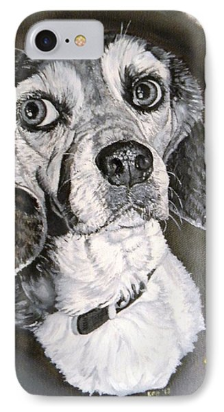 Daisy Dog Phone Case by Kevin F Heuman