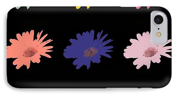 Daisy Flower In Pop Art IPhone Case