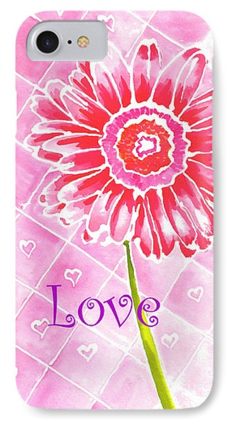 IPhone Case featuring the painting Daisy Loves Love by Terry Taylor