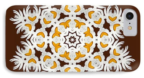 Daisy Mandala  12t IPhone Case by Variance Collections