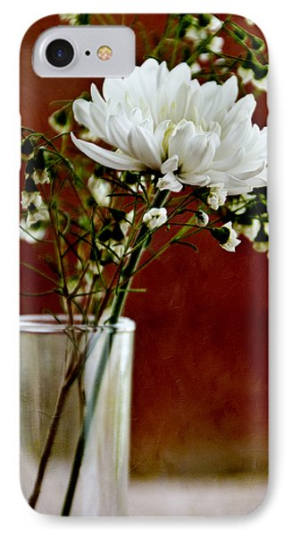 Daisy Mum On Red 3 Phone Case by Angelina Vick