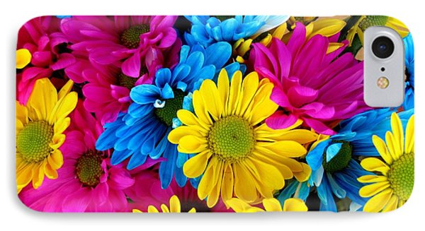 IPhone Case featuring the photograph Daisys Flowers Bloom Colorful Petals Nature by Paul Fearn