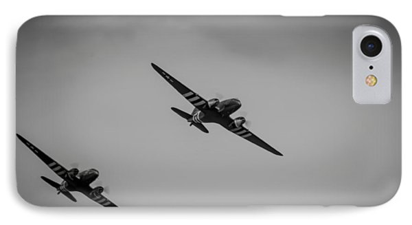 IPhone Case featuring the photograph Dakota D-day Black And White by Scott Lyons