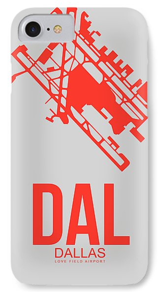 Dal Dallas Airport Poster 1 IPhone Case by Naxart Studio