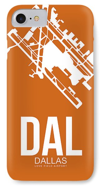 Dal Dallas Airport Poster 2 IPhone Case by Naxart Studio