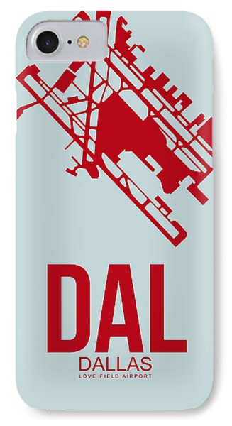 Dal Dallas Airport Poster 4 IPhone Case by Naxart Studio