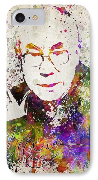 Dalai Lama In Color IPhone Case by Aged Pixel