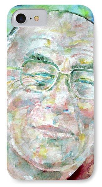 Dalai Lama - Watercolor Portrait IPhone Case by Fabrizio Cassetta