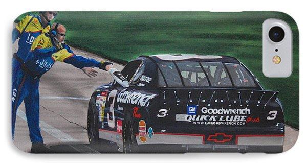 Dale Earnhardt Wins Daytona 500-pit Road Hand Shake Phone Case by Paul Kuras
