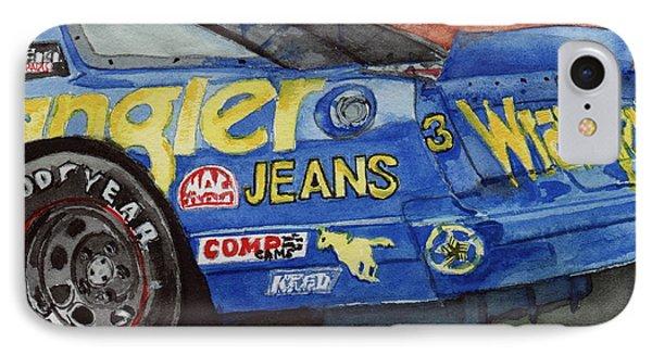 Dale Earnhardt's 1987 Chevrolet Monte Carlo Aerocoupe No. 3 Wrangler  IPhone Case