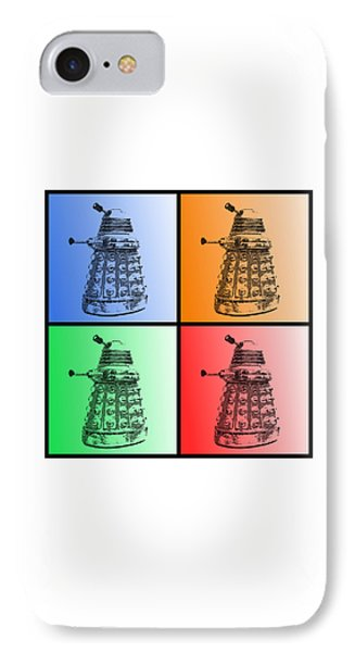 Dalek Pop Art IPhone Case by Richard Reeve