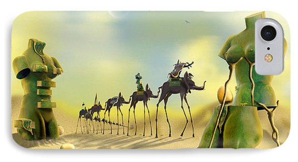 Dali On The Move  IPhone Case by Mike McGlothlen