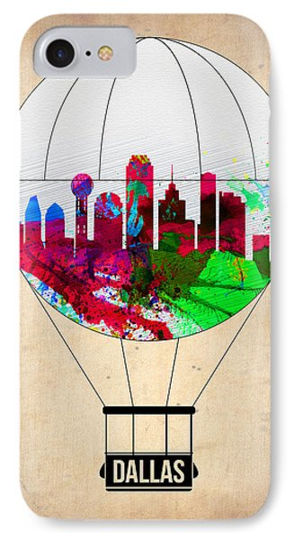 Dallas iPhone 7 Case - Dallas Air Balloon by Naxart Studio