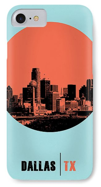 Dallas Circle Poster 1 IPhone Case by Naxart Studio