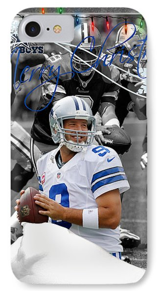 Dallas Cowboys Christmas Card IPhone Case by Joe Hamilton
