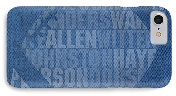 Dallas Cowboys Football Team Typography Famous Player Names On Canvas IPhone Case by Design Turnpike