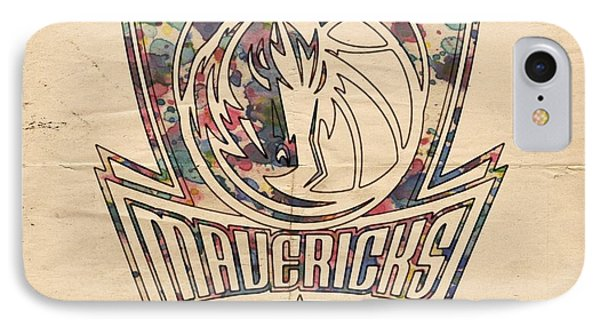 Dallas Mavericks Poster Art IPhone Case