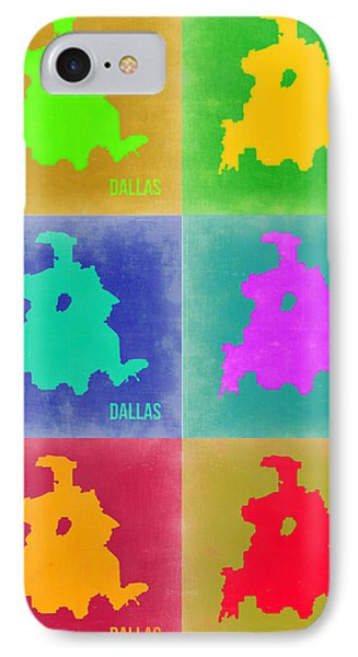 Dallas iPhone 7 Case - Dallas Pop Art Map 3 by Naxart Studio