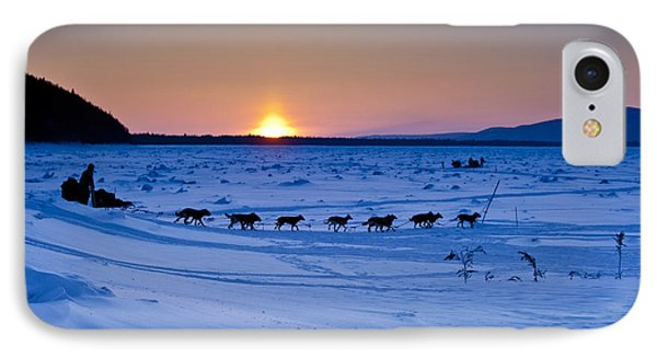 Dallas Seavey On The Yukon River IPhone Case by Jeff Schultz