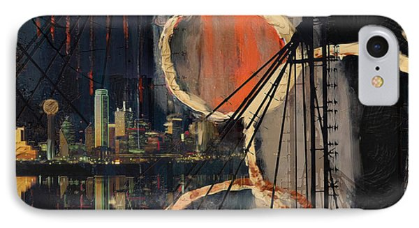 Dallas Skyline 002 IPhone Case by Corporate Art Task Force