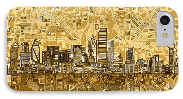 Dallas Skyline Abstract 6 IPhone Case