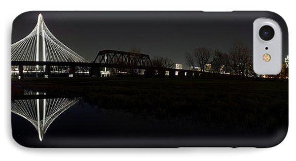 Dallas Skyline Hunt Bridge Color IPhone Case by Jonathan Davison