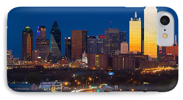 Dallas Skyline Panorama IPhone 7 Case by Inge Johnsson