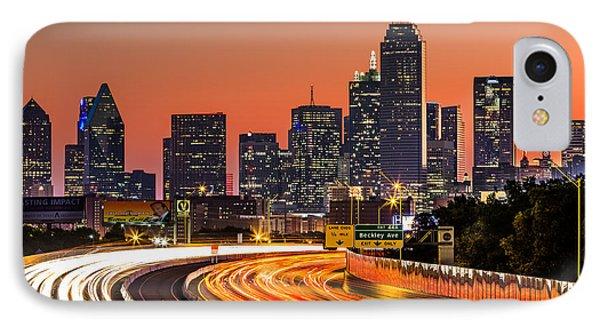 Dallas Sunrise IPhone Case by Mihai Andritoiu