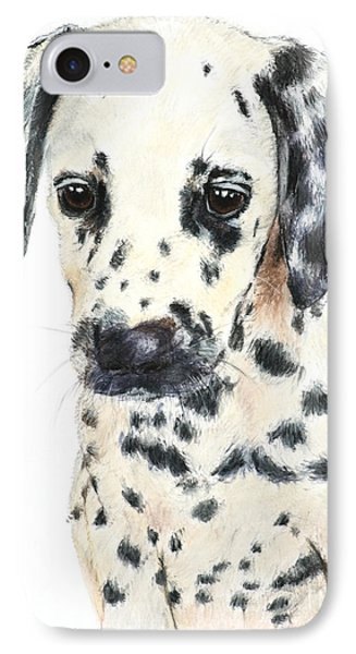 Dalmatian Puppy Painting IPhone Case