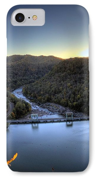 IPhone Case featuring the photograph Dam Across The River by Jonny D