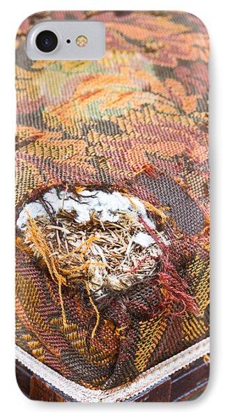 Damaged Upholstery IPhone Case by Tom Gowanlock