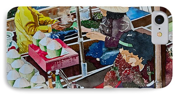 Damnoen Saduak Floating Market IPhone Case