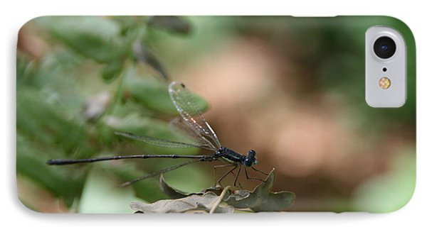Damselfly IPhone Case by Neal Eslinger