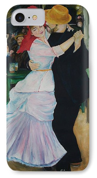 IPhone Case featuring the painting Dance At Bougival Renoir by Eric  Schiabor