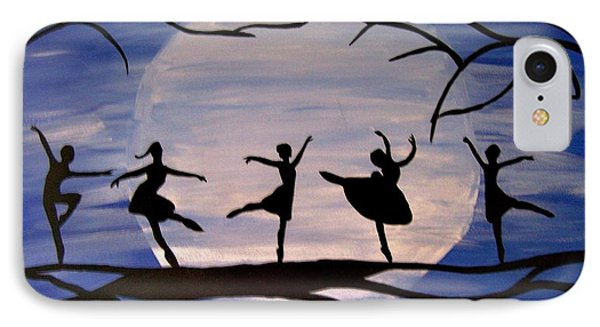 Dance By The Light Of The Moon Phone Case by Rachel Olynuk