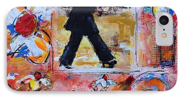 Dance In The Rain Under A Red Umbrella IPhone Case