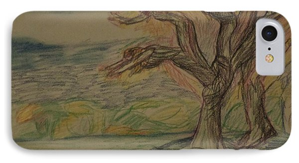 IPhone Case featuring the drawing Dance In The Wind by Christy Saunders Church