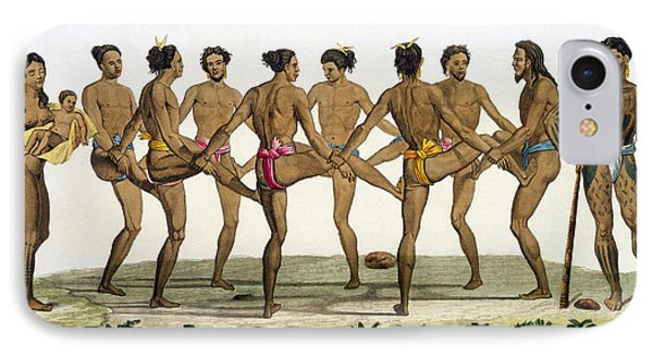Dance Of The Caroline Islanders, Plate IPhone Case by Felice Campi