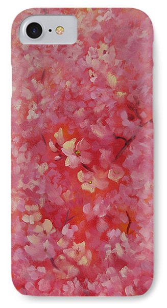 Dance Of The Cherry Blossoms Phone Case by Karin  Leonard