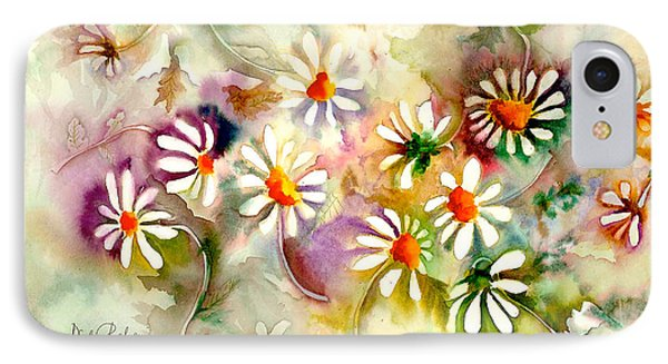 Dance Of The Daisies IPhone Case by Neela Pushparaj