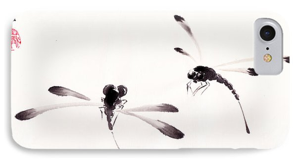 Dance Of The Dragonflies Phone Case by Oiyee At Oystudio
