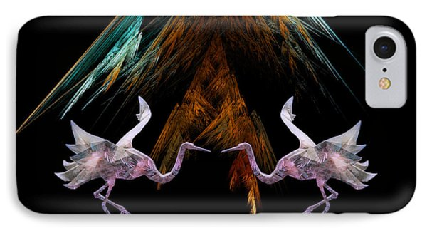 IPhone Case featuring the digital art Dance Of The Paper Cranes by Kathleen Holley